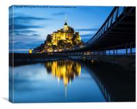 Le Mont Saint-Michel at dusk, Canvas Print