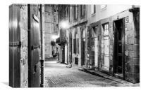 St-Malo Street at night, Canvas Print