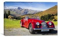 Red Morgan Roadster, Canvas Print
