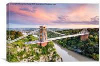 Clifton Suspension Bridge after Sunset, Canvas Print