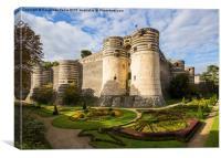 Chateau d'Angers (Angers castle), France, Canvas Print
