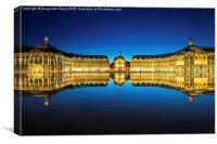 Bordeaux - Le Miroir d'eau, Canvas Print