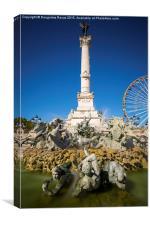 Monument aux Girondins, Bordeaux, Canvas Print