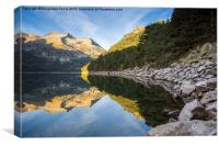 Lac d'Oredon in the morning, Canvas Print