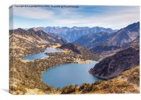 Lac d'Aumar and Lac d'Aubert panorama, Canvas Print