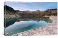 Lac d'Aubert at the blue hour, Canvas Print