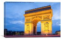 Arc de Triomphe, Paris - a roundabout with a diffe, Canvas Print