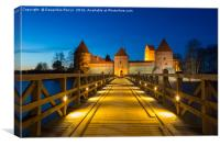 Blue hour at Trakai castle, Lithuania, Canvas Print