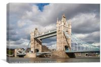 Tower Bridge, London in daytime, Canvas Print