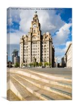 The Royal Liver Building, Liverpool, Canvas Print