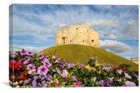 Clifford's Tower, York, Canvas Print