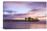 The Grand Pier, Weston-Super-Mare at Dusk, Canvas Print