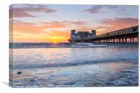 Colourful sunset at The Grand Pier, Weston-Super-M, Canvas Print