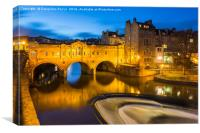 Pulteney Bridge, Bath, UK, in the evening, Canvas Print