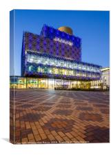 Birmingham City Library at the blue hour, Canvas Print