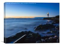 Black Nore Point Bay and Lighthouse, Canvas Print