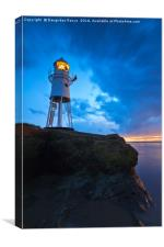Black Nore Point Lighthouse at dusk, Canvas Print