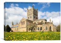 Tewkesbury Abbey, Canvas Print