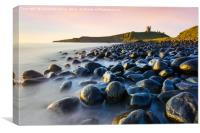 Dunstanburgh castle at dawn, Canvas Print