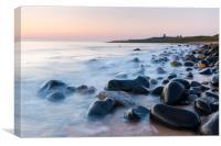 Dawn at Embleton bay, Northumberland, Canvas Print