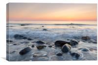 Sunrise at Embleton bay, Northumberland, Canvas Print