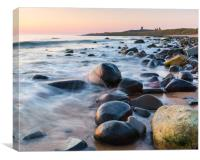 Sunrise at Embleton bay, Northumberland, Canvas Print