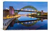 Tyne bridge in the evening, Newcastle-Upon-Tyne, Canvas Print