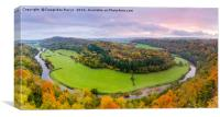 Autumnal sunrise colours at Symmonds Yat, UK, Canvas Print