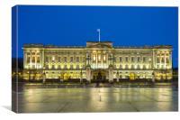 Buckingham Palace, London at night, Canvas Print