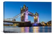 Tower Bridge, London at dusk, Canvas Print