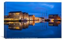 Gloucester Quays at dusk, Canvas Print