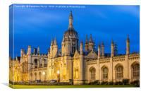 University of Cambridge, Kings College at twilight, Canvas Print