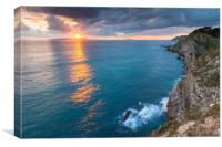 Stair Hole Sunset, Canvas Print