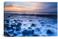 The Waves, Kilve Beach, Canvas Print