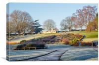 Frosty Abbey Park, Evesham, UK, Canvas Print
