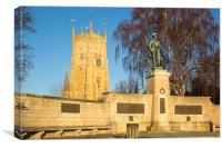 Evesham War Memorial and the Bell Tower, Canvas Print