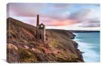 Wheal Coates - Cornish Tin-dustry at dusk, Canvas Print