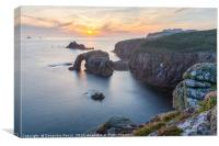 Sunset at Land's End, Cornwall, Canvas Print