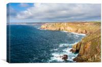 Land's End Cliffs, Cornwall, Canvas Print