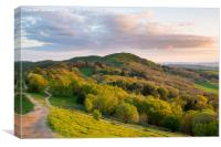 Herefordshire Beacon at the golden evening hour, Canvas Print