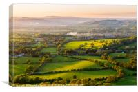 The rolling Herefordshire hills, Canvas Print