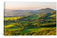 Worcestershire beacon and the rolling hills at the, Canvas Print