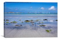 Isles of Scilly, beach view., Canvas Print