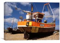 Fishing boat at Hastings, Sussex, Canvas Print