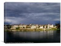Lîle dOffard, Saumur, France, Canvas Print