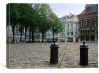 Place de la Cathédrale, Rouen, Canvas Print