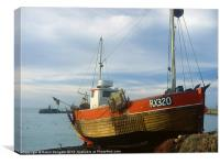 Fishing boat, Hastings, Sussex., Canvas Print