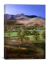 Buttermere & Whiteless Pike, Canvas Print