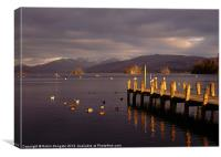 Windermere at sunset, English Lakes, Canvas Print