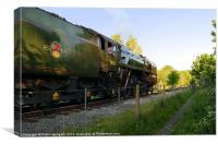 70013 Oliver Cromwell at Matlock, Canvas Print